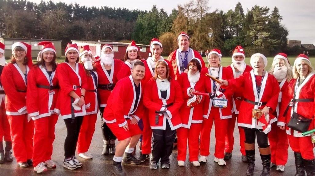 Showing TCQC in a Santa run